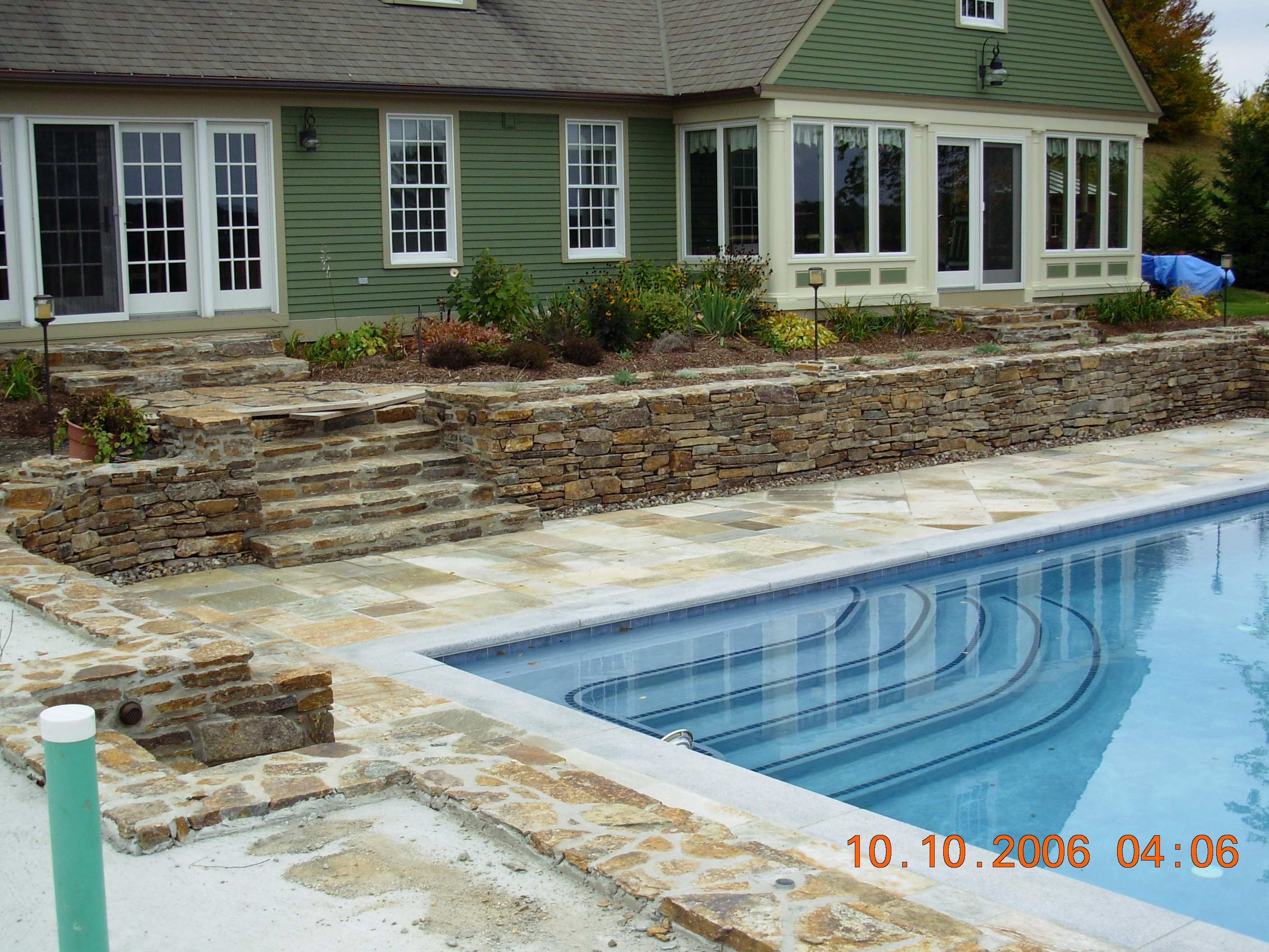 Our services for Pool design retaining wall